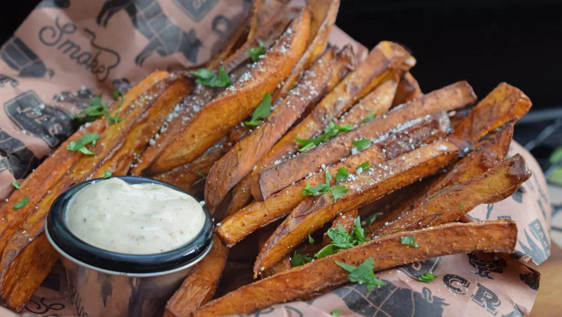 Smoked Sweet Potato Fries
