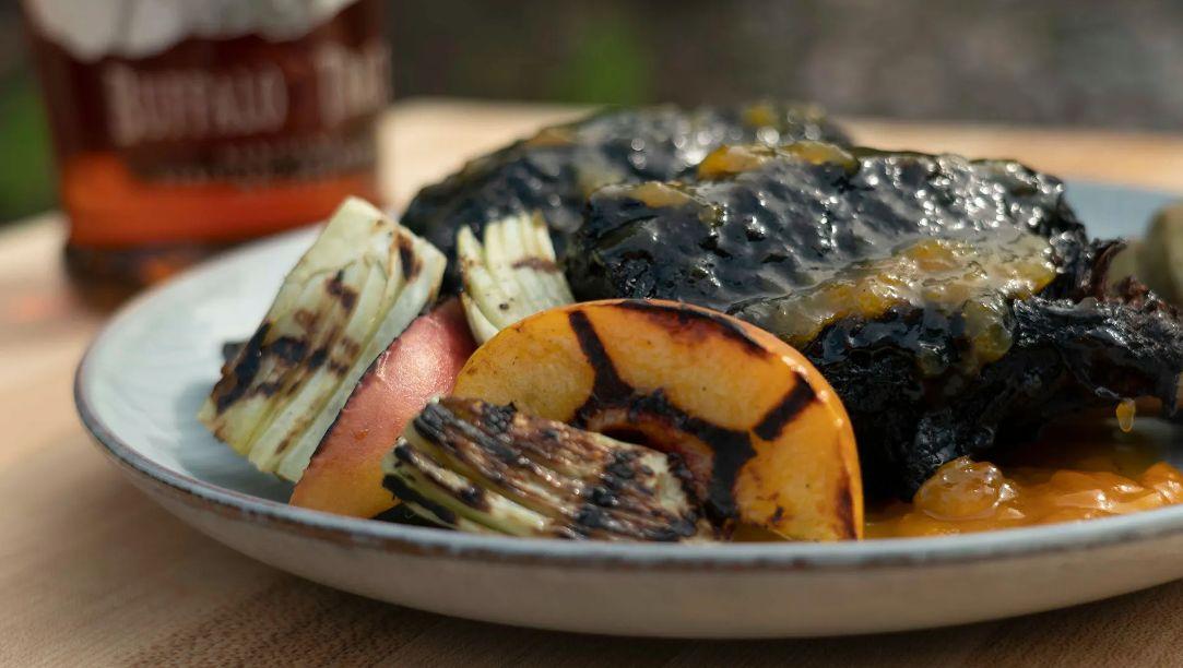 10-Hour Smoked Beef Short Ribs with Buffalo Trace® Peach Bourbon Glaze