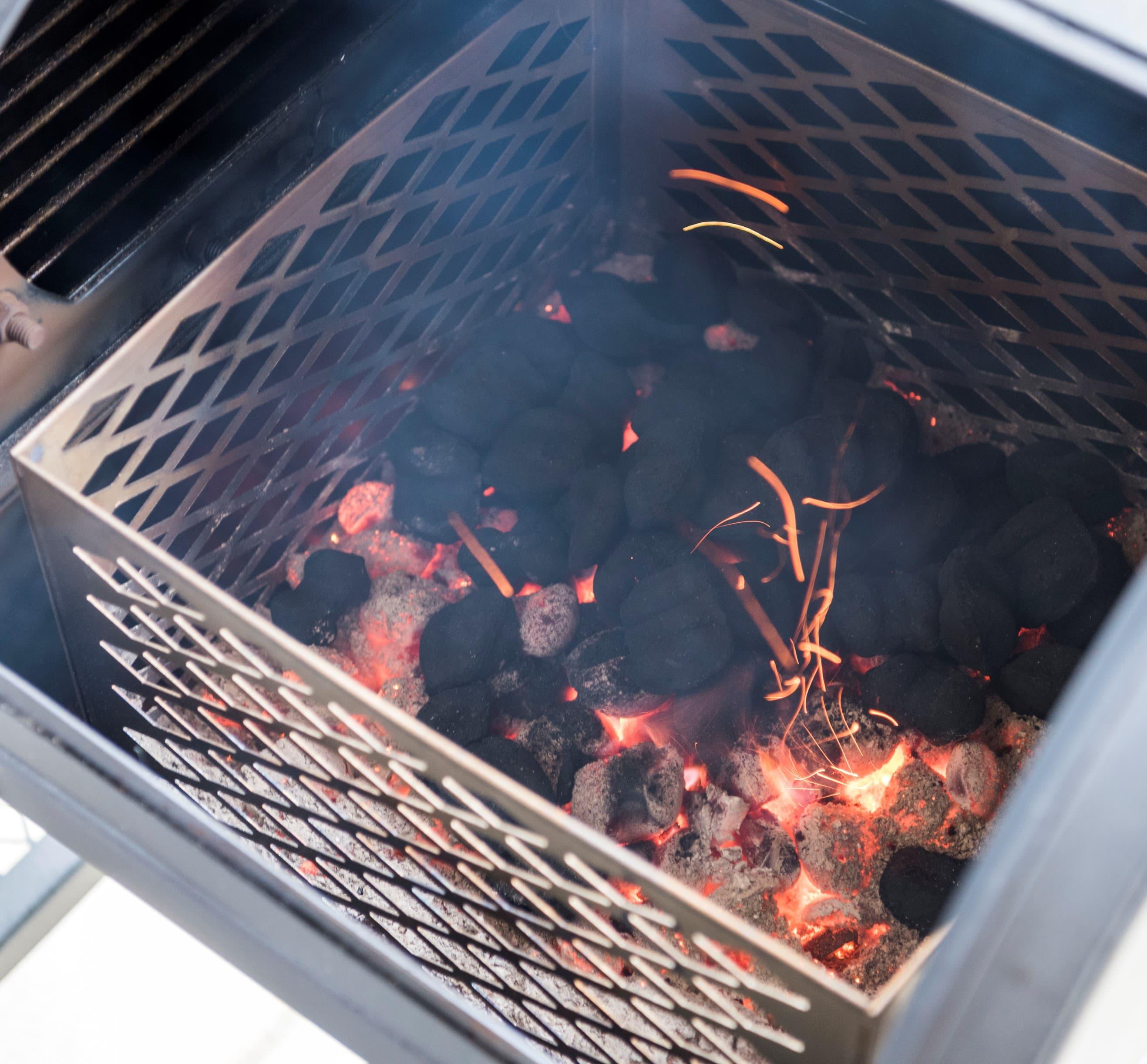 How to Use a Firebox Basket | Oklahoma Joe's®